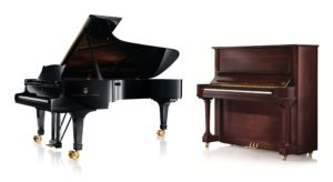 Two pianos; Grand and Upright