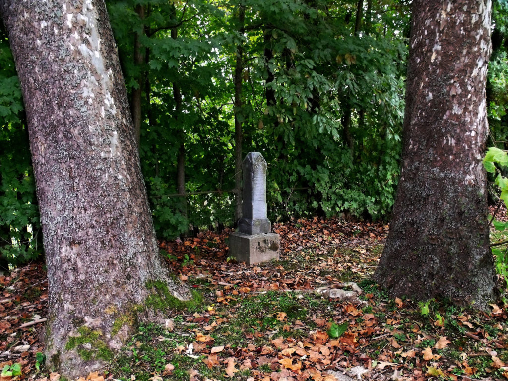 Tombstone and Trees