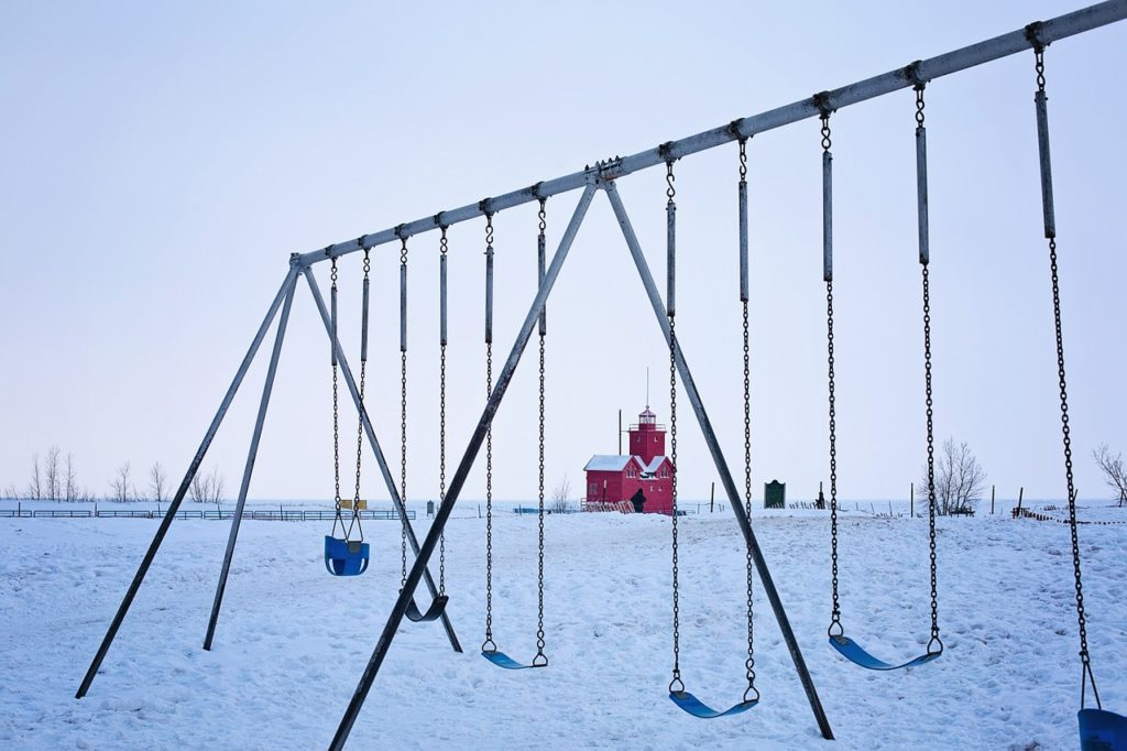 Swings on a playground
